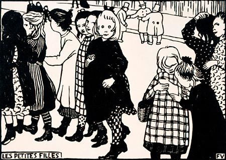フェリックス・ヴァロットン『女の子たち』1893年 木版/紙 三菱一号館美術館所蔵