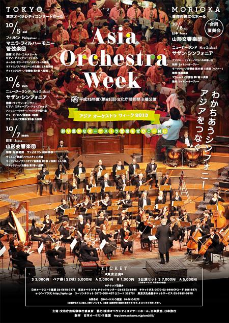 『アジア オーケストラ ウィーク 2013』チラシ