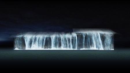 『佐賀城の滝』イメージビジュアル チームラボ、2013、デジタルインスタレーション、3min、音楽:高橋英明