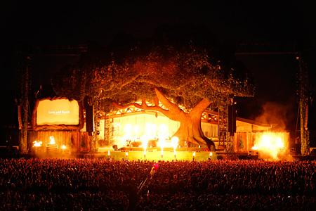 『炎と森のカーニバル』の模様 Photo by 上飯坂 一
