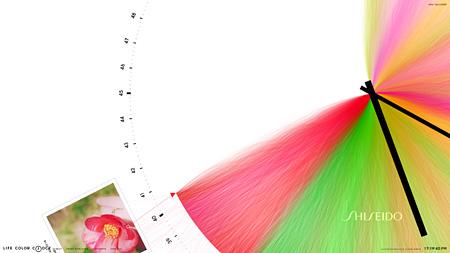『LIFE COLOR CLOCK』により生成された色時計イメージ