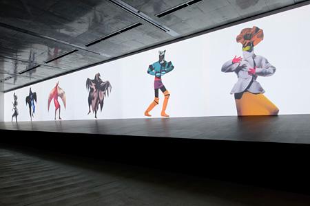 『アーヴィング・ペンと三宅一生 Visual Dialogue』展 会場写真 2011(Photo: Masaya Yoshimura)