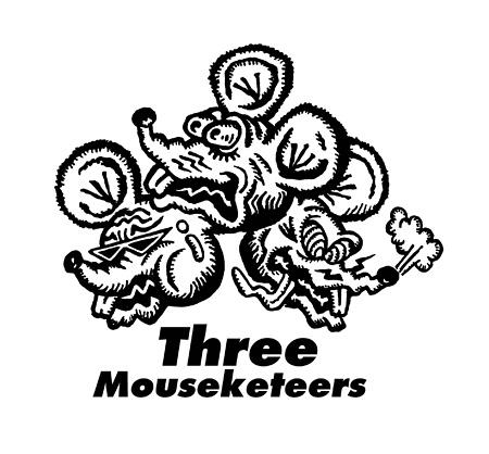 ねずみの三銃士イラストロゴ
