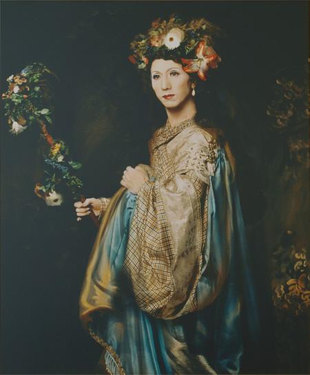 『家族の肖像・妻』 1994年 ©Yasumasa Morimura