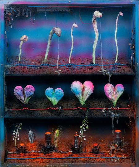 工藤哲巳『あなたの肖像―種馬の自由』1973年 米津画廊蔵 撮影:福永一夫 ©ADAGP, Paris & JASPAR, Tokyo, 2013