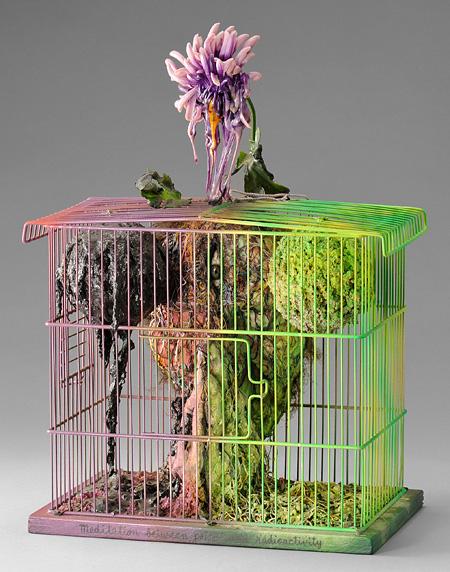 工藤哲巳『石油と放射能の間での瞑想』1979年 福岡市美術館蔵 ©ADAGP, Paris & JASPAR, Tokyo, 2013