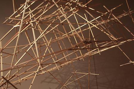 フライング・ウオーターパーク(部分) 2010年 木材、モーター、他(展覧会参考作品)