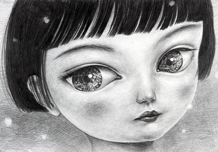 『見ゆ - 雪 4』鴻池朋子, 2013年, 紙に鉛筆, 394 x 544mm 撮影:宮島径 出展:ミヅマアートギャラリー(東京・北京・シンガポール)