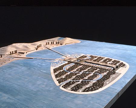 磯崎新『海市計画(模型)』1996年制作 撮影:高瀬良夫