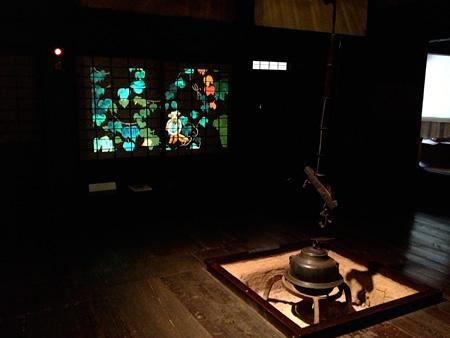 幻灯インスタレーション プレイベント 三渓園 旧矢箆原家住宅での展示風景