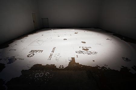 大野由美子『Home』2010年 Gallery Cube(プラハ,チェコ共和国)展示風景