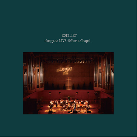 sleepy.ac『LIVE@Gloria Chapel』通常盤ジャケット