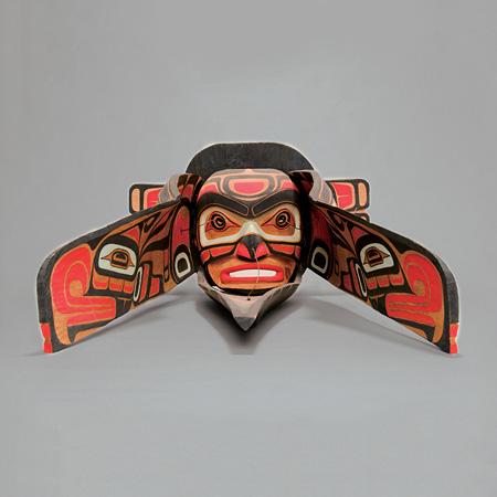 早変わり仮面 作者:リチャード・ハント 民族:クワクワカワクゥ 国名:カナダ 1977年制作 国立民族学博物館蔵 写真提供:国立民族学博物館
