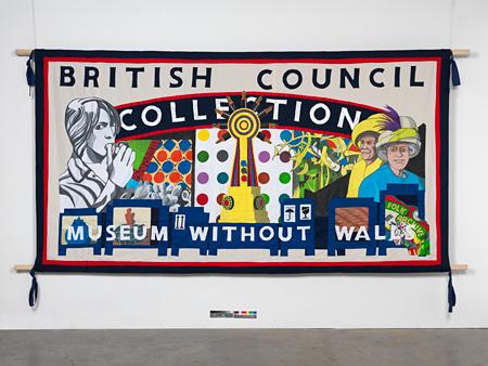 エド・ホール『ブリティッシュ・カウンシル・コレクション・バナー(コンテンポラリー・アート・バージョン)』2012 © Ed Hall