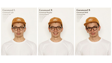 Garamondの着用イメージビジュアル
