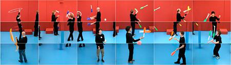 デイヴィッド・ホックニー『ジャグラーズ、2012年6月24日』2012 © David Hockney Courtesy of Hockney Pictures and Pace Gallery