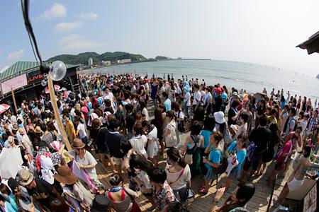 逗子海岸オープン時の音霊 OTODAMA SEA STUDIO
