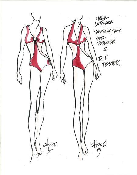 カリン・ワグナーによる衣裳デザイン画 ©2012 LOVELACE PRODUCTIONS,INC.ALL RIGHTS RESERVED