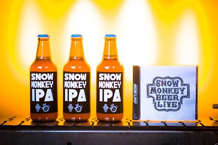 「SNOW MONKEY IPA」と『SNOW MONKEY BEER LIVE!』実物CD