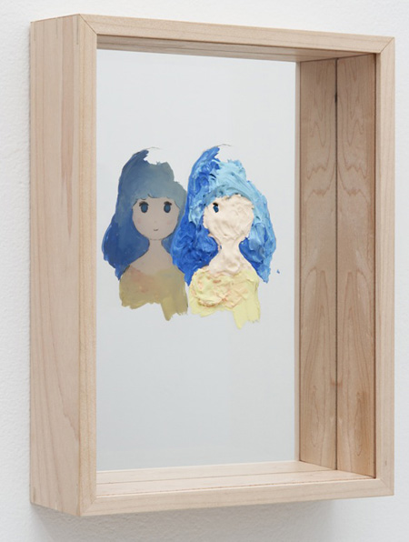 Untitled, 2014, 250 x 185 x 55 mm, acrylic, grease pencil, acrylic board, wooden frame, mirror ©Makoto Taniguchi Courtesy of NANZUKA