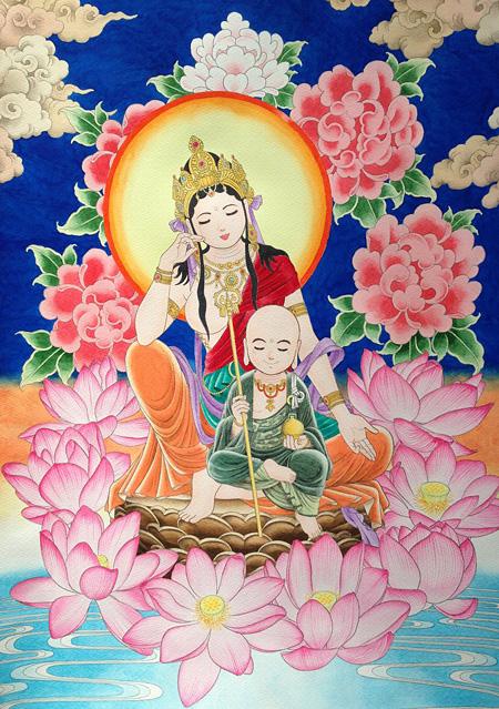 © エル菩薩と春助地蔵菩薩(三浦みつる)