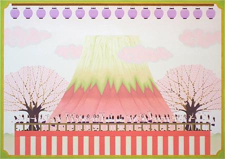 加藤正臣『春の宴』Spring Festival アルシュ紙にアクリル 縦728mm×横1030mm