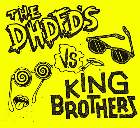 KING BROTHERS / The DHDFD's『The DHDFD's VS KING BROTHERS』ジャケット