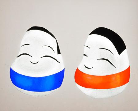 影絵作家・藤城清治によるおきあがりこぼし ©Seiji Fujishiro / Horipro