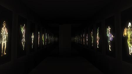 『道端で踊る人々』, チームラボ, 2014,インタラクティブデジタルインスタレーション