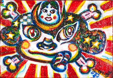 伊藤雅史『乙戌(Oto Dog)』145×102mm アクリル・キャンバス