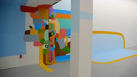 フェデリコ・エレーロ『Landscape』 2008 Kunstverein Freiburg wall painting