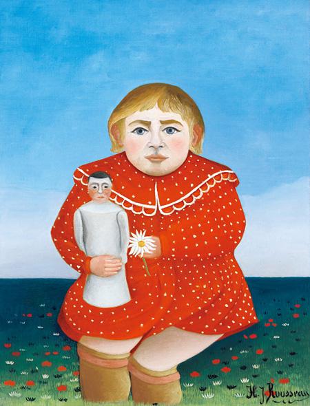 アンリ・ルソー『人形を抱く子ども』1904-05年頃 オランジュリー美術館 ©RMN-Grand Palais (musée de l'Orangerie) / Franck Raux / distributed by AMF – DNPartcom