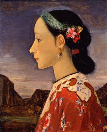 藤島武二『女の横顔』1926-27年 ポーラ美術館蔵