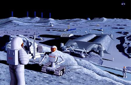 『JAXA長期ビジョン/JAXA2025のためのイラストレーション』 2005年 資料提供:宇宙航空研究開発機構(JAXA)(参考図版)