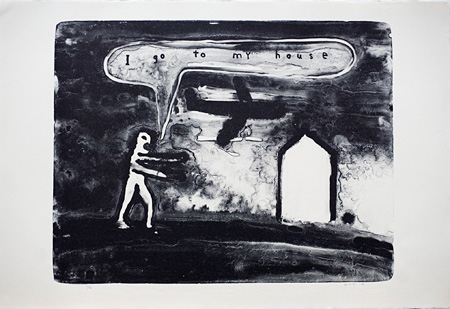 David Lynch『I go to my House』2012, lithograph, 63×93cm, e.d.30, courtesy item editions ©David Lynch