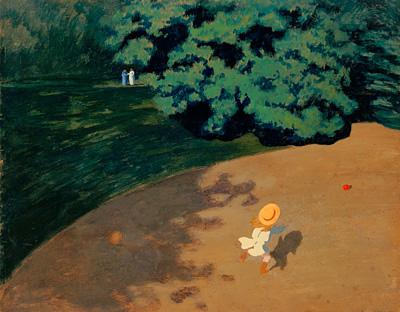 フェリックス・ヴァロットン『ボール』1899年 油彩/板に貼り付けた厚紙 パリ、オルセー美術館 © Rmn-Grand Palais (musée d'Orsay) / Hervé Lewandowsky