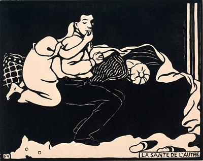 フェリックス・ヴァロットン『他人の健康(アンティミテⅨ)』1898年 木版/紙 三菱一号館美術館