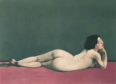 フェリックス・ヴァロットン『赤い絨毯に横たわる裸婦』1909年 油彩/カンヴァス ジュネーヴ、プティ・パレ美術館 ©Association des Amis du Petit Palais, Genève / photo Studio Monique Bernaz, Genève