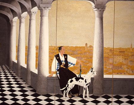 守屋多々志『慶長使節支倉常長』(左)1981(昭和56)年 紙本・彩色 山種美術館