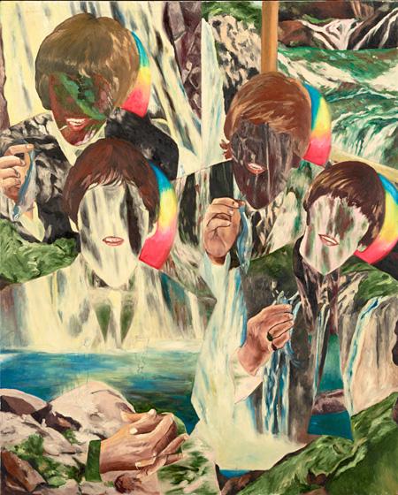 横尾忠則『落下するビートルズ』1991年頃 作家蔵