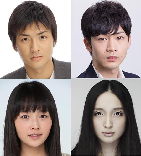 左上から時計回りに、石田卓也、松下洸平、奥村佳恵、横田美紀