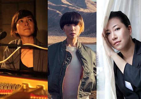 左から原田郁子、Salyu、畠山美由紀