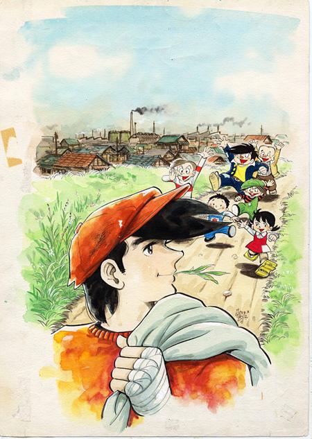 『あしたのジョー』扉絵原画(『週刊少年マガジン』1972年4月9日号)ちばてつやプロダクション蔵 ©高森朝雄・ちばてつや/講談社