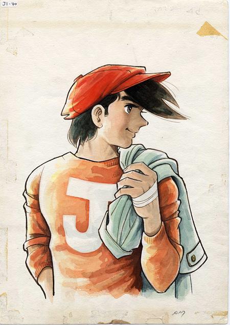『週刊少年マガジン』(1971年4月18日号)表紙絵原画 ちばてつやプロダクション蔵 ©高森朝雄・ちばてつや/講談社