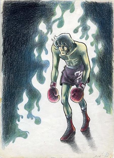 『あしたのジョー』扉絵原画(『週刊少年マガジン』1970年2月8日号)ちばてつやプロダクション蔵 ©高森朝雄・ちばてつや/講談社