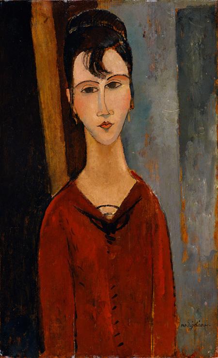 アメデオ・モディリアーニ『婦人像(C.D.夫人)』 1916年頃 ポーラ美術館蔵