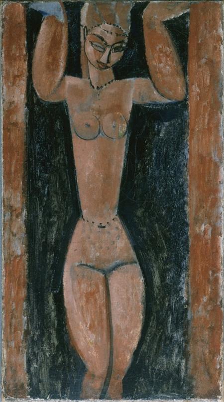 アメデオ・モディリアーニ『カリアティード』 1911-1913年 愛知県美術館蔵