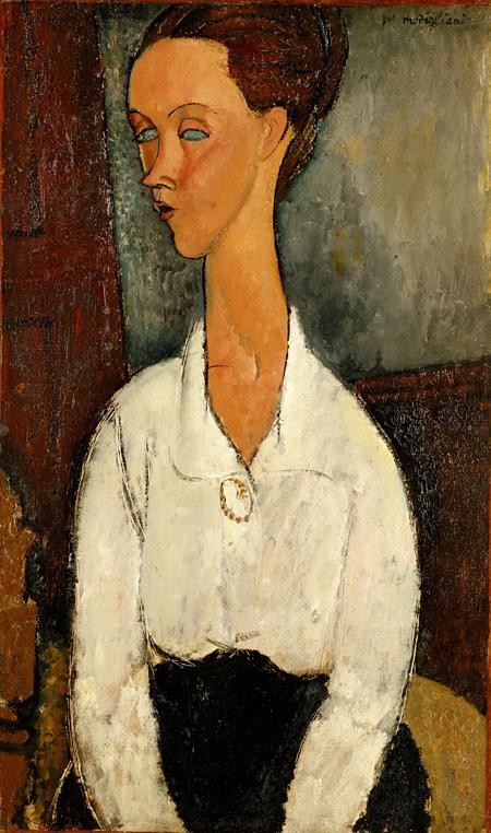 アメデオ・モディリアーニ『ルニア・チェホフスカの肖像』 1917年 ポーラ美術館蔵