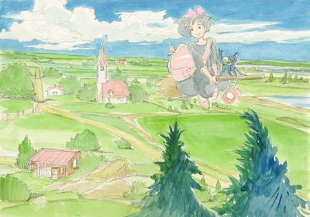 『魔女の宅急便』イメージボード 1989年 ©1989 角野栄子・二馬力・GN