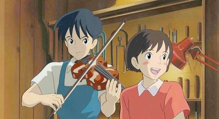 『耳をすませば』背景画およびセル画 1995年 ©1995 柊あおい/集英社・二馬力・GNH